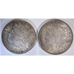 1896 & 1900-O CH BU ORIGINAL MORGAN DOLLARS