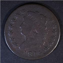 1814 LARGE CENT, VG