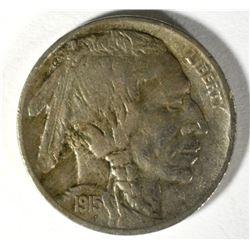 1915-S BUFFALO NICKEL, XF TOUGH COIN