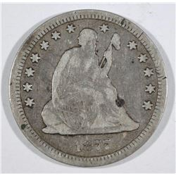1877-CC SEATED QUARTER