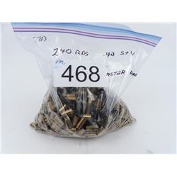500 pieces twice fired processed 40 S&W Federal brass