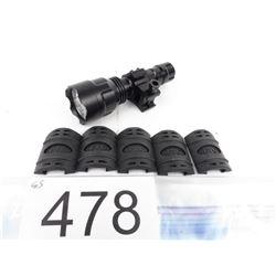Tactical light w/ mount + 5 rubber handguard covers