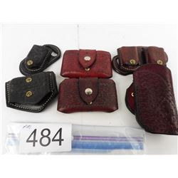 1 leather holster + 2 leather mag pouches (PJM) + 3 leather single stack mag pouches (Ernie Hill)