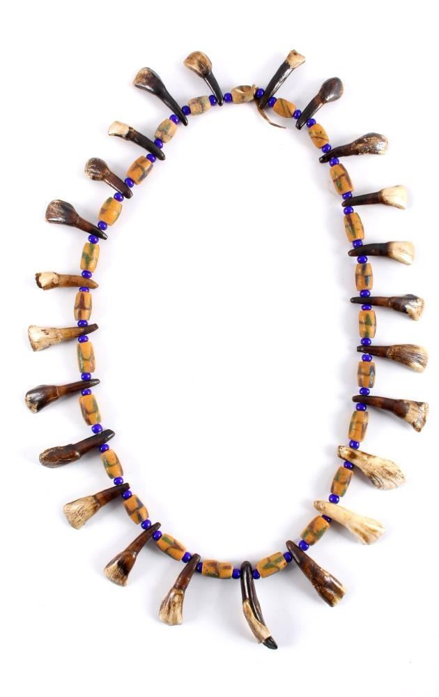 8 Original 18th Century Buffalo Teeth Drilled Used By Indians For Necklace