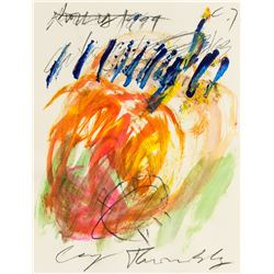Cy Twombly 1928-2011 America Mixed Media Abstract