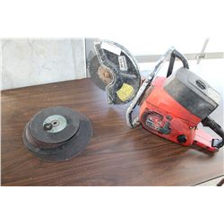 HOMELITE CONCRETE SAW WITH BLADE