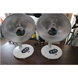 TWO AEROWORKS TABLE HEATERS