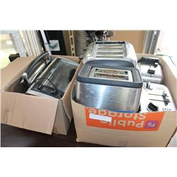 TWO BOXES OF TAOSTERS AND APPLIANCES