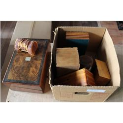 LOT OF WOOD JEWELRY BOXES