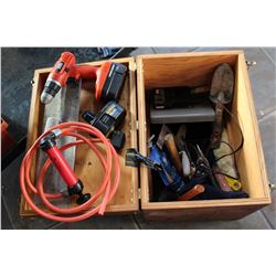 WOODEN TOOLCHEST WITH TOOLS