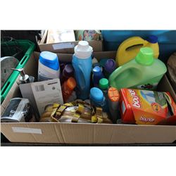BOX OF CLEANING SUPPLIES