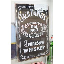 NEW 8X12 TIN SIGN, JACK DANIELS