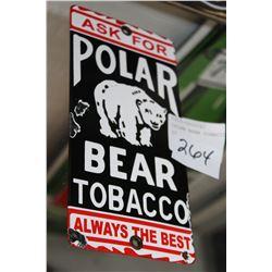 OPLAR BEAR TOBACCO PORCELAIN SIGN