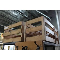 THREE WOOD WINE CRATES