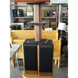 PAIR OF ANGSTROM SPEAKERS WITH STANDS