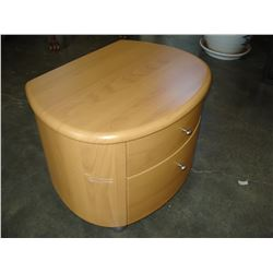 OVAL TWO DRAWER ENDTABLE