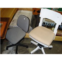 TWO ROLLING OFFICE CHAIRS