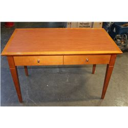 TWO DRAWER MODERN MAPLE DESK