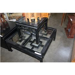 EASTERN BLACK COFFEE TABLE ENDTABLE AND SOFA TABLE