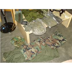 MILITARY BAG WITH SHIRTS AND ITEMS