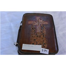 LEATHER CASED BIBLE