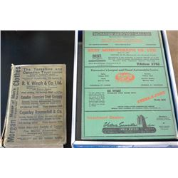 1923 VANCOUVER DIRECTORY AND 1952 VANCOUVER DIRECTORY