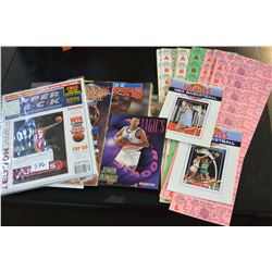 LOT FO COLLECTIBLE BASKETBALL MEMORIBILIA