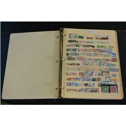 STAMP COLLECTION IN BINDER