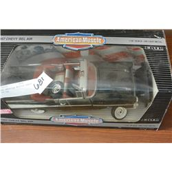 DIE CAST AMERICAN MUSCLE CHEVY BEL AIR CAR