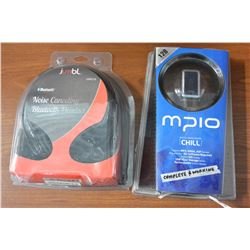 MPIO MP3 PLAYER AND JUMBLE BLUTOOTH HEAD SET