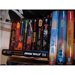 TRAY OF STAR WARS NOVELS AND HARDCOVERS