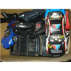 BOX OF REMOTE CONTROL CARS