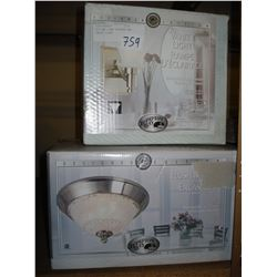 CEILING LIGHT FIXTURE AND VANITY LIGHT