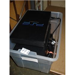 THREE PS2 CONSOLES