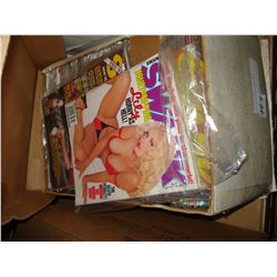 BOX OF PLAYBOY MAGAZINES