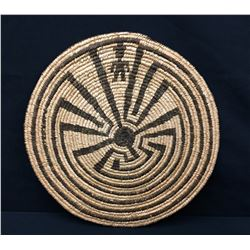 1920s - 40s Pima Man in the Maze Basket