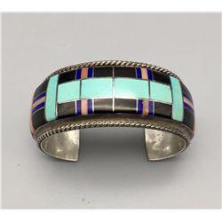 Multi Stone Channel Inlay Bracelet