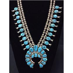 Exquisite Vintage Squash Blossom Necklace