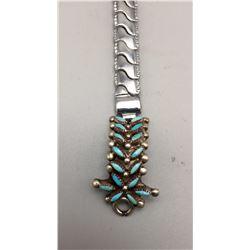 Vintage Zuni Needlepoint Watch Bracelet
