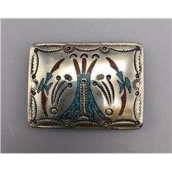 Vintage Inlay Belt Buckle