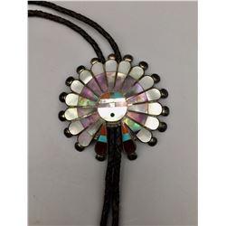 Vintage Zuni Inlay Bolo Tie