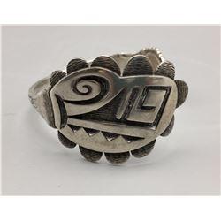 Unique Hopi Sterling Silver Spoon Bracelet