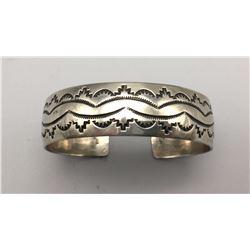 Stamped Sterling Silver Bracelet