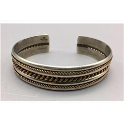 Vintage Sterling and Gold Bracelet
