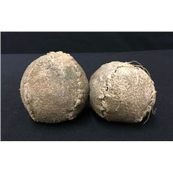 Pair of Antique Sioux Gaming Balls