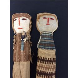 Pair of Vintage Handmade Peruvian Dolls