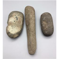 Group of Three Stone Artifacts