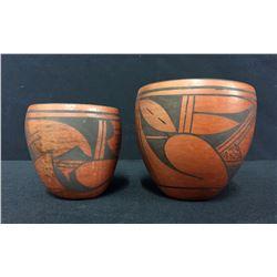 Pair of Vintage Hopi Pottery Bowls