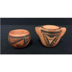 Pair of Miniature Hopi Pottery Bowls - Nampeyo