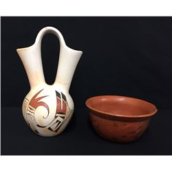 Pair of Vintage Hopi Pottery Items